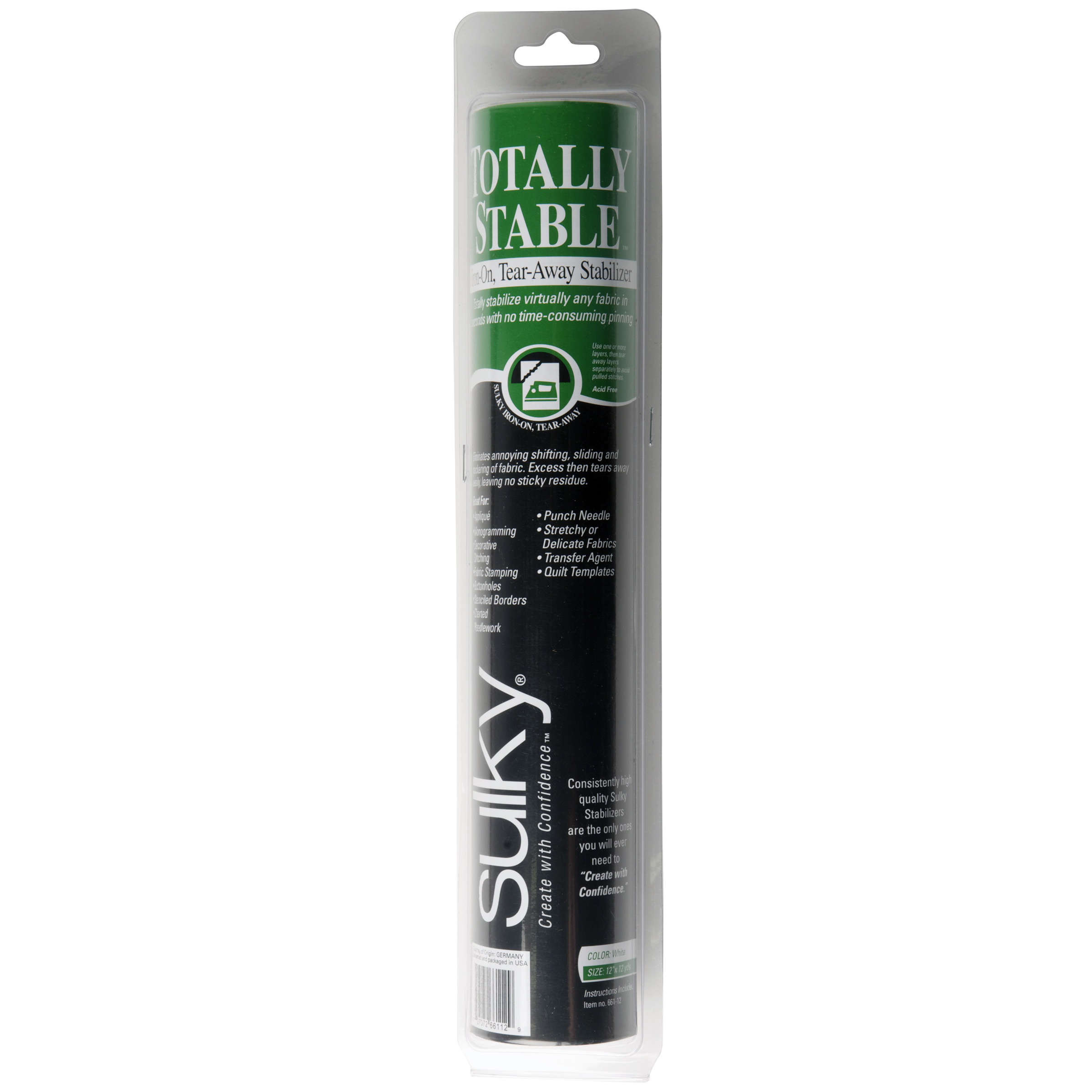 Sulky Totally Stable Stabilizer - White - 12'' x 12 yd. Roll Questions & Answers
